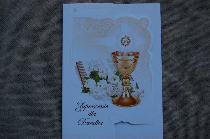 Zaproszenia Na Komunię Dla Dziadka Merigraf